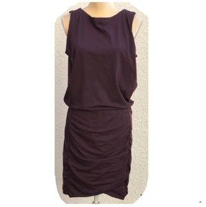 Athleta Sleeveless Dress w/ Ruched Skirt